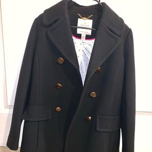 Brand New Kate Spade Twill Peacoat